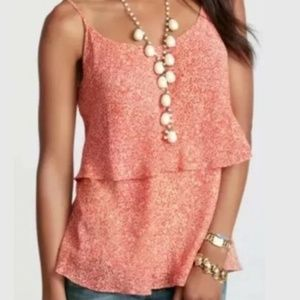 CAbi Tank Top Paprika Tiered floral size large